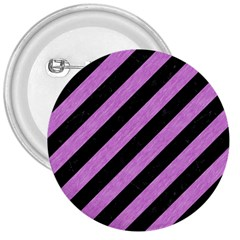 Stripes3 Black Marble & Purple Colored Pencil (r) 3  Buttons by trendistuff
