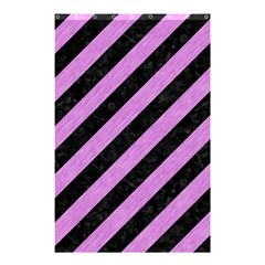 Stripes3 Black Marble & Purple Colored Pencil (r) Shower Curtain 48  X 72  (small)  by trendistuff