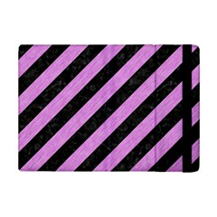 Stripes3 Black Marble & Purple Colored Pencil (r) Ipad Mini 2 Flip Cases by trendistuff