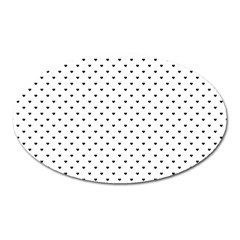 Classic Black Polka Dot Hearts Magic Color Swop Magnet (oval) by Beachlux