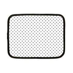 Classic Black Polka Dot Hearts Magic Color Swop Netbook Case (small) by Beachlux