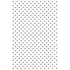 Classic Black Polka Dot Hearts Magic Color Swop 5 5  X 8 5  Notebook by Beachlux