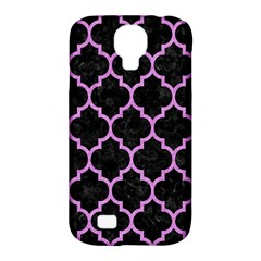 Tile1 Black Marble & Purple Colored Pencil (r) Samsung Galaxy S4 Classic Hardshell Case (pc+silicone) by trendistuff
