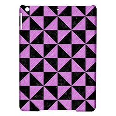 Triangle1 Black Marble & Purple Colored Pencil Ipad Air Hardshell Cases by trendistuff