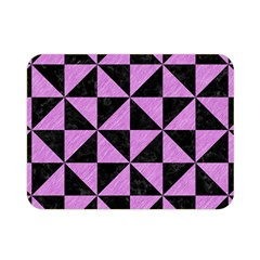 Triangle1 Black Marble & Purple Colored Pencil Double Sided Flano Blanket (mini)  by trendistuff