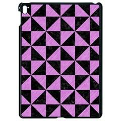 Triangle1 Black Marble & Purple Colored Pencil Apple Ipad Pro 9 7   Black Seamless Case by trendistuff