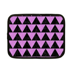 Triangle2 Black Marble & Purple Colored Pencil Netbook Case (small)  by trendistuff