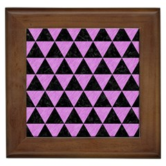 Triangle3 Black Marble & Purple Colored Pencil Framed Tiles by trendistuff
