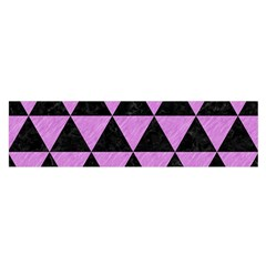 Triangle3 Black Marble & Purple Colored Pencil Satin Scarf (oblong) by trendistuff