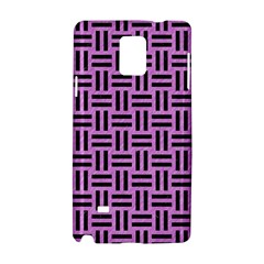 Woven1 Black Marble & Purple Colored Pencil Samsung Galaxy Note 4 Hardshell Case by trendistuff