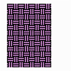 Woven1 Black Marble & Purple Colored Pencil (r) Small Garden Flag (two Sides) by trendistuff