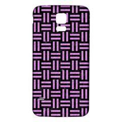 Woven1 Black Marble & Purple Colored Pencil (r) Samsung Galaxy S5 Back Case (white) by trendistuff
