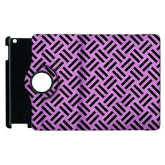 Woven2 Black Marble & Purple Colored Pencil Apple Ipad 3/4 Flip 360 Case by trendistuff