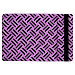 Woven2 Black Marble & Purple Colored Pencil Ipad Air Flip by trendistuff