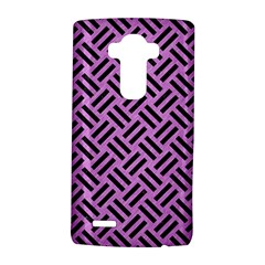 Woven2 Black Marble & Purple Colored Pencil Lg G4 Hardshell Case by trendistuff