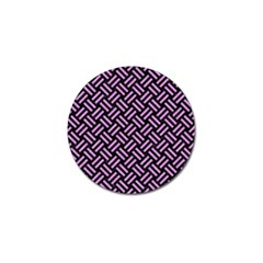 Woven2 Black Marble & Purple Colored Pencil (r) Golf Ball Marker (4 Pack) by trendistuff