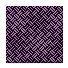 Woven2 Black Marble & Purple Colored Pencil (r) Face Towel by trendistuff