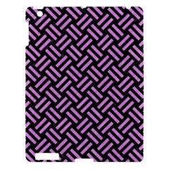 Woven2 Black Marble & Purple Colored Pencil (r) Apple Ipad 3/4 Hardshell Case by trendistuff