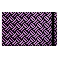 Woven2 Black Marble & Purple Colored Pencil (r) Apple Ipad Pro 9 7   Flip Case by trendistuff