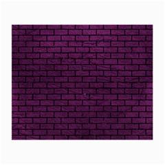 Brick1 Black Marble & Purple Leather Small Glasses Cloth by trendistuff