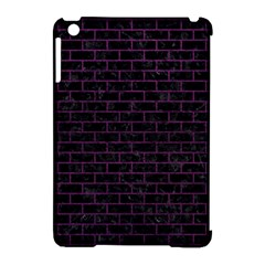 Brick1 Black Marble & Purple Leather (r) Apple Ipad Mini Hardshell Case (compatible With Smart Cover) by trendistuff