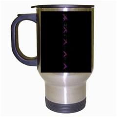 Brick2 Black Marble & Purple Leather (r) Travel Mug (silver Gray) by trendistuff