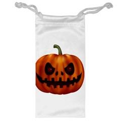Halloween Pumpkin Jewelry Bag by Valentinaart