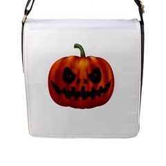 Halloween Pumpkin Flap Messenger Bag (l)  by Valentinaart