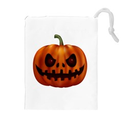 Halloween Pumpkin Drawstring Pouches (extra Large) by Valentinaart