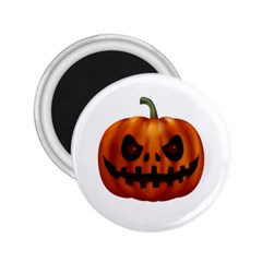 Halloween Pumpkin 2 25  Magnets by Valentinaart