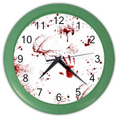 Massacre  Color Wall Clocks by Valentinaart