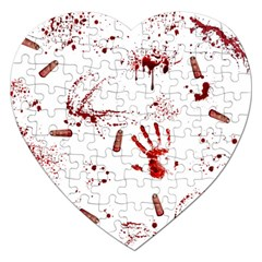 Massacre  Jigsaw Puzzle (heart) by Valentinaart