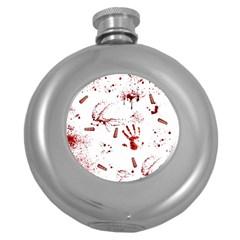 Massacre  Round Hip Flask (5 Oz) by Valentinaart