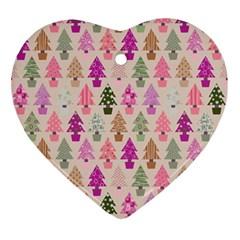 Christmas Tree Pattern Ornament (heart) by Valentinaart