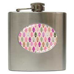 Christmas Tree Pattern Hip Flask (6 Oz) by Valentinaart