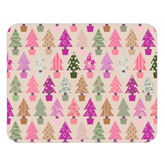 Christmas Tree Pattern Double Sided Flano Blanket (large)  by Valentinaart