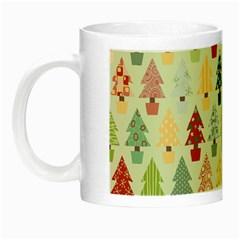Christmas Tree Pattern Night Luminous Mugs by Valentinaart