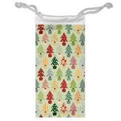 Christmas Tree Pattern Jewelry Bag by Valentinaart