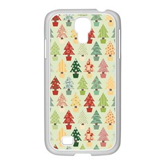 Christmas Tree Pattern Samsung Galaxy S4 I9500/ I9505 Case (white) by Valentinaart