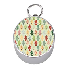 Christmas Tree Pattern Mini Silver Compasses by Valentinaart