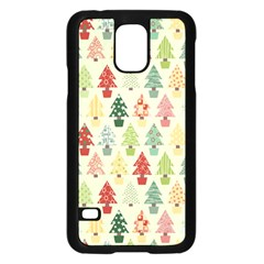 Christmas Tree Pattern Samsung Galaxy S5 Case (black) by Valentinaart
