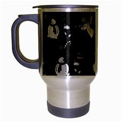 Christmas Pattern Travel Mug (silver Gray) by Valentinaart