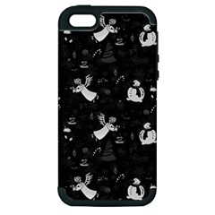 Christmas Pattern Apple Iphone 5 Hardshell Case (pc+silicone) by Valentinaart