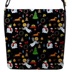 Christmas Pattern Flap Messenger Bag (s) by Valentinaart