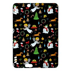 Christmas Pattern Kindle Fire Hdx Hardshell Case by Valentinaart