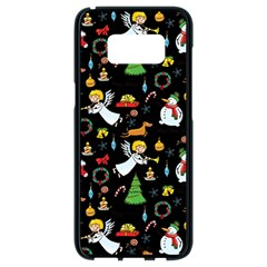 Christmas Pattern Samsung Galaxy S8 Black Seamless Case by Valentinaart