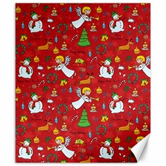 Christmas Pattern Canvas 20  X 24   by Valentinaart