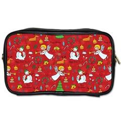 Christmas Pattern Toiletries Bags 2 Side by Valentinaart