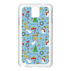 Christmas Pattern Samsung Galaxy Note 3 N9005 Case (white) by Valentinaart