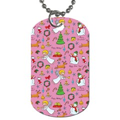 Christmas Pattern Dog Tag (one Side) by Valentinaart